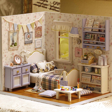 Doll House Furniture Diy Miniature 3D Wooden Miniaturas Dollhouse Toys for Children Birthday Gifts Handmade Crafts House Toys sylvanian families house diy french coffee trip handmade house wooden toy crafts for children toys for girls juguetes brinquedos