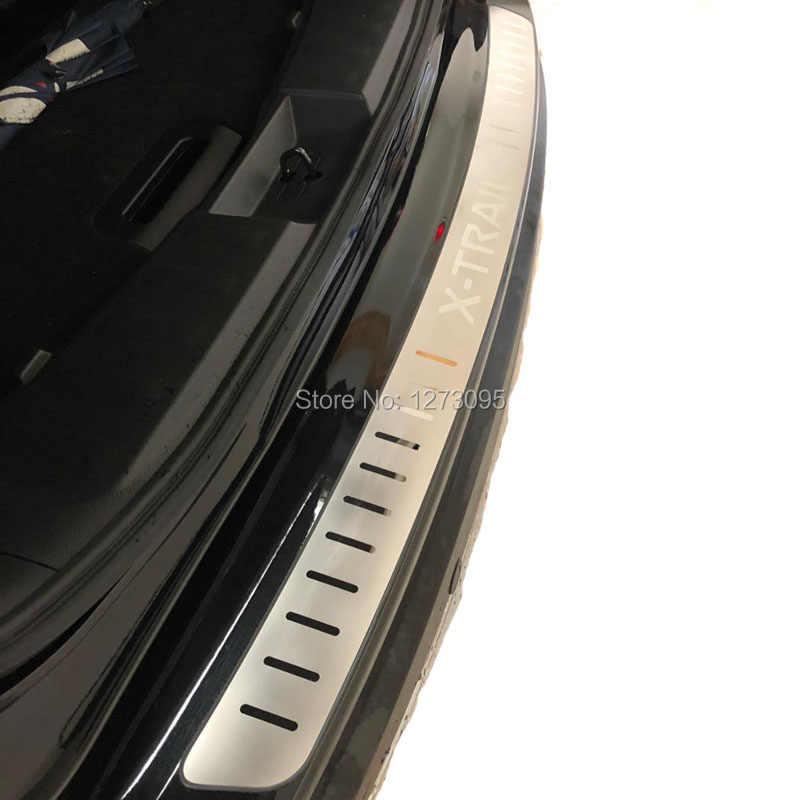 2014-2018 2019 2020日産エクストレイルxtrail T32超薄型ステンレスリアバンパープロテクター敷居外装ガードペダルアクセサリー