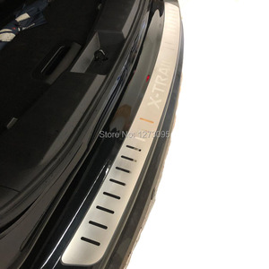 Image 2 - For 2014 2018 2019 2020 Nissan X Trail XTrail T32 Ultrathin Stainless Rear Bumper Protectors Sill Exterior Guard Pedal Accessory