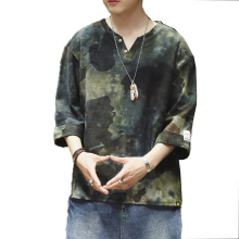 New Print Casual Mens O Neck T Shirts Tee Shirt Homme Men's Tops Men T-Shirt Camisetas Hombre Camo Men TShirt Chinese National