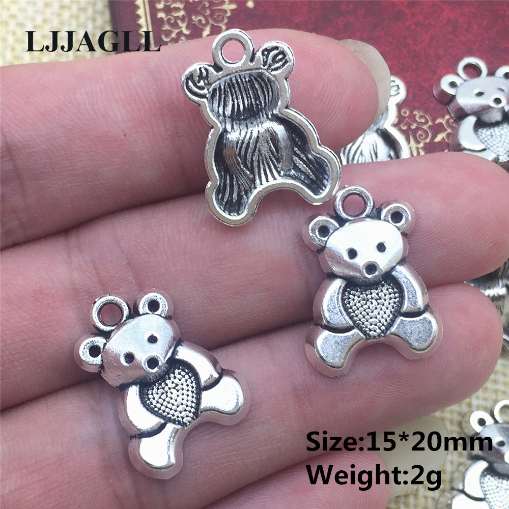Koala CharmPendant Tibetan Antique Silver 20mm 10 Charms