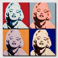 Moderne hand gemaakt olieverfschilderij marilyn monroe pop art voor decoratie olieverfschilderijen voor vrouw gift