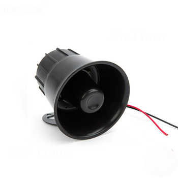 Car Alarm Horn 12V 110dB 6 Tone Black Siren Horn Loud 30W For