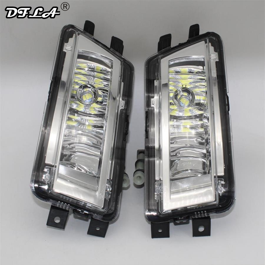 2pcs Car LED Light For VW Passat NMS B7 North America Version 2012 2013 2014 2015 Car-styling Front LED Fog Light Fog Lamp набор автомобильных экранов trokot для vw passat b7 2010 2014 на передние двери tr0408 01