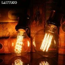 Винтажная лампа Эдисона lattuso e27 220 В ретро 40 Вт подвесной