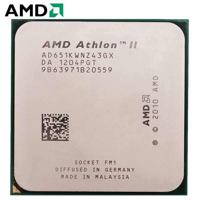 AMD Athlon II FM1 X4 651 Soquete 100W 3.0GHz 905-pin CPU Quad-Core Processador para Desktop x4 651 Soquete fm1