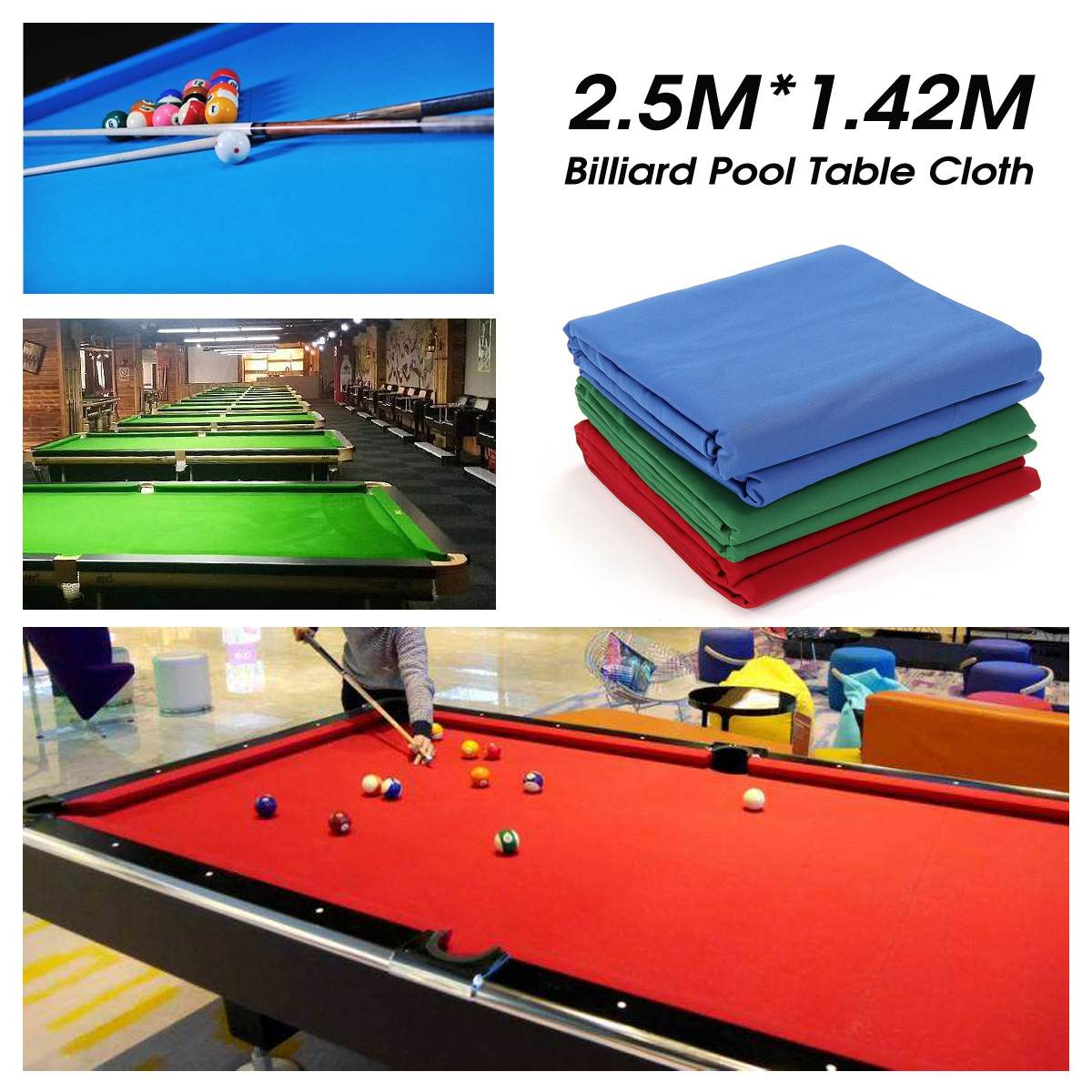 Green/Blue/Red Snooker Billiard Cloth Pool Eight Ball Billiard Pool Table Cloth For American Billiards Snooker Accessories