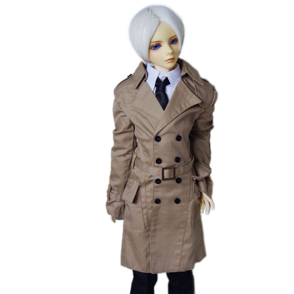 [wamami] 500# Wind Coat/Suit/Outfiit/Clothes 1/4 MSD DZ AOD DOD Boy BJD Dollfie handsome grey woolen coat belt for bjd 1 3 sd10 sd13 sd17 uncle ssdf sd luts dod dz as doll clothes cmb107