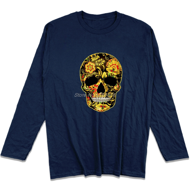 Flower Skull Candy Day Of The Dead Mexico Sugar Skull Gothic Men/'s Sweatshirt