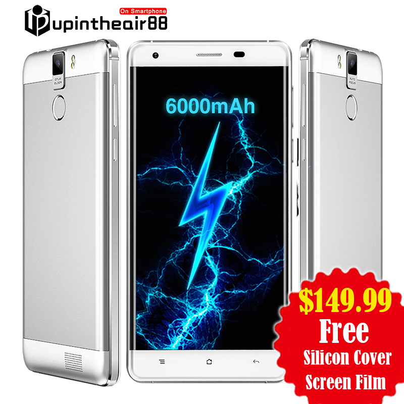 Original Oukitel K6000 PRO 6000mAh FDD LTE Octa Core Mobile Phone 5.5″ 3GB+32GB Fingerprint 16.0MP 1920*1080P FHD Smartphone