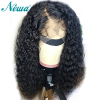 NYUWA Lace Front Human Hair Wigs With Baby Hair Pre plucked Brazilian Remy hair Wigs Curly Lace Front Wigs For Black Women