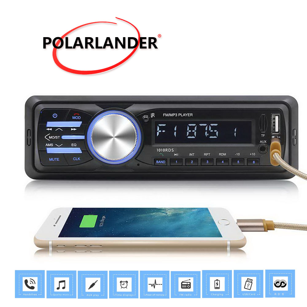 bluetooth fm aux iso input receiver 1din car audio stereo. Black Bedroom Furniture Sets. Home Design Ideas