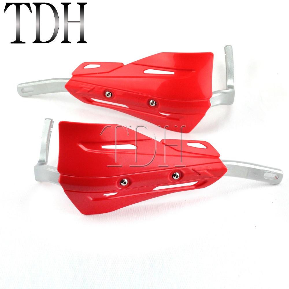 """Red Motorrad 1-1/8 """"28,6mm Hand/pinsel Schutz Lenker Protector Hand Shields Deflektor Rüstung Für Honda Xr Cr Crf 250 350 400 Offensichtlicher Effekt"""