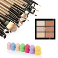 6 Colors Pro Face Concealer Cream Cosmetic Face Care Foundation Powder Blush Brush Set + 20Pcs Makeup Brush Set + Cosmetic Puff