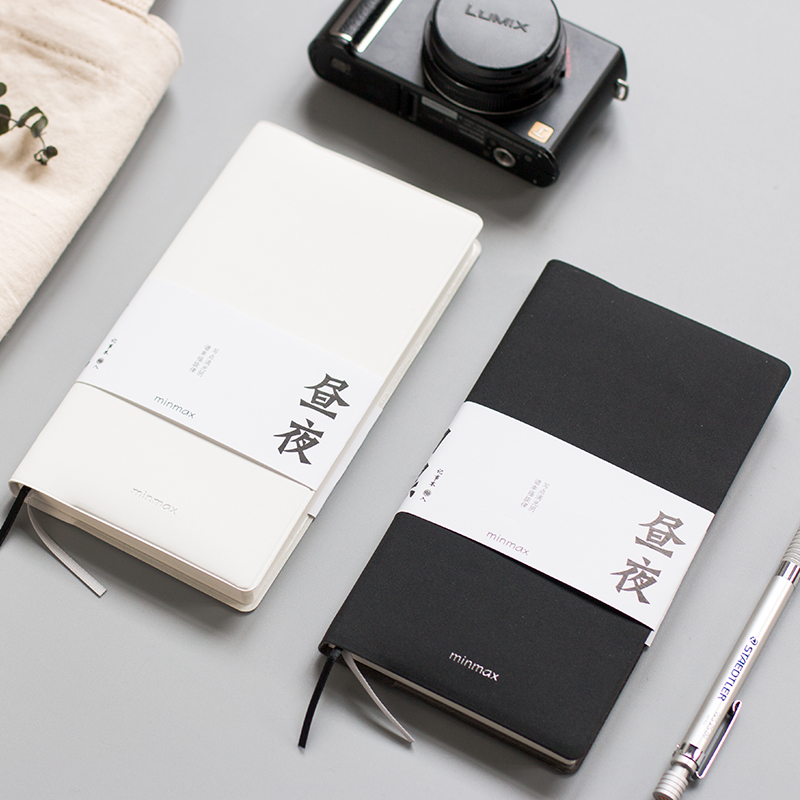 MISS BEN Simple Black White Notebook Solid Color Notepad Horizontal Grid Box Pages 1PCS miss hope mr greenwood sweets made simple