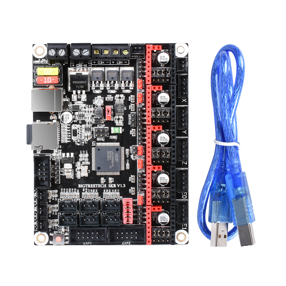 BIGTREETECH SKR V1.3 carte lisse 32Bit + TFT35 V2.0 + BLtouch + TMC2130 spi TMC2208 UART pièces d'imprimante 3D vs MKS GEN L TMC2209 - 4