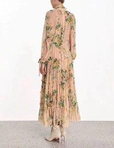 Image 2 - 2019 秋シルクスリーブフリル花柄ボヘミアン womend ドレス