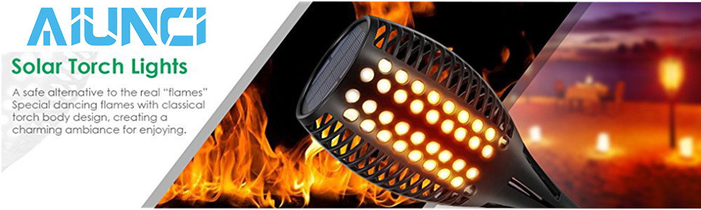 Chama Bruxuleante LED Solar Gramado Lâmpadas Led