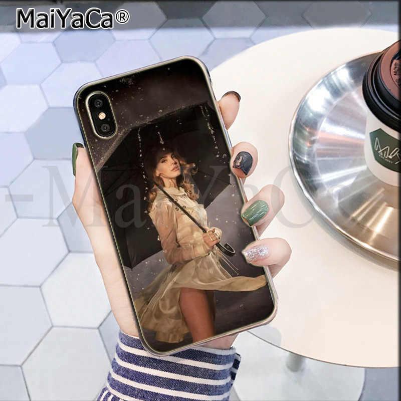 MaiYaCa Đẹp LANA Del Rey Gợi Cảm Mềm TPU dẻo Silicone Bán Cao Cấp Thoáng Mát Ốp Lưng Điện Thoại cho iPhone 8 7 6 6S Plus X XS Max 55S SE XR