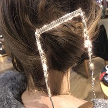 Luxury Full Rhinestone big Hair Clips Irregular Tassels Crystal Jewelry Girls Handmade Pearl Flowers Hairpins Accessories