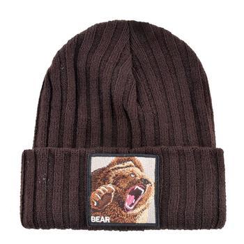 Embroidery Bear Knitted Beanies Hat Men Solid Color Autumn Winter Knitting Boy Skullies Caps Women Streetwear Kpop Gorras Bonnet 2