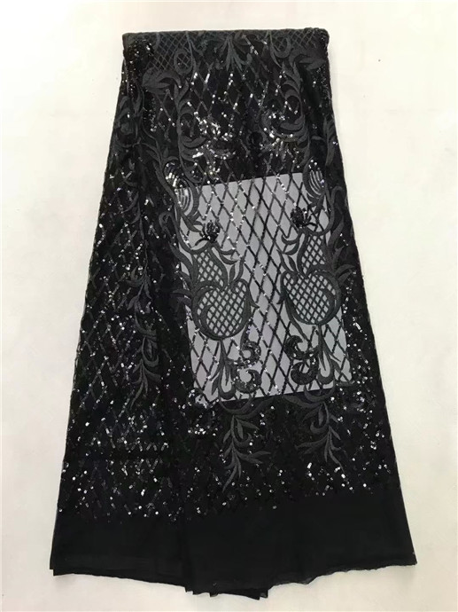 african tulle lace fabric with sequins 450*135CM white tull with black sequin fabric high quality tulle with sequins for dress