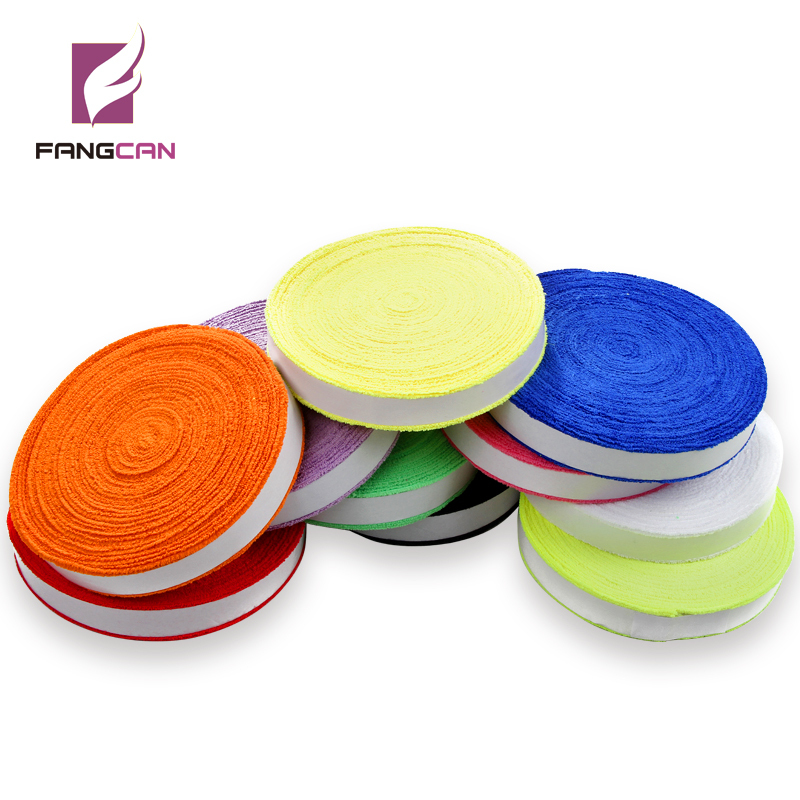 FANGCAN 100% Cotton Soft Handtag Grip för Badminton / Tennis Rackets 10m / Reel