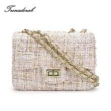 Trenadorab Winter New Crossbody Bag Woolen Brand Designer Flap Women Messenger Bag Chain Brand Shoulder Bag