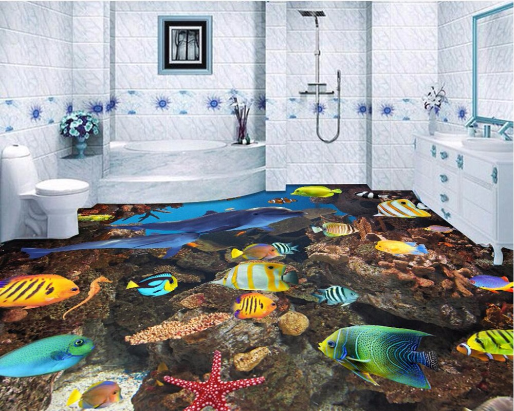 Wdbh custom mural 3d flooring picture pvc self adhesive for Fisherman home decor