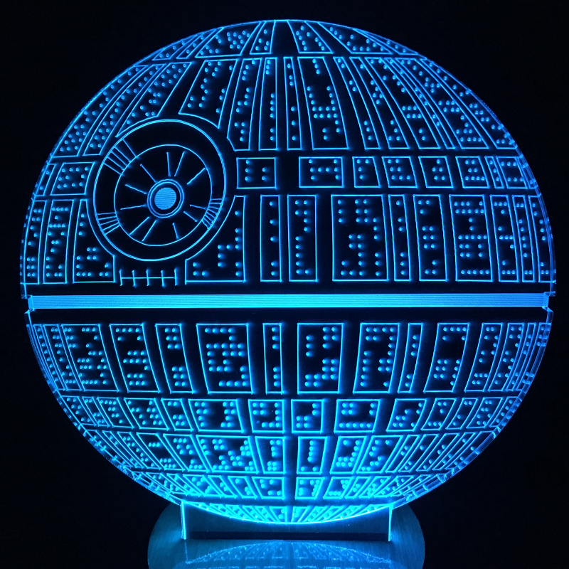 death star 3d lamp reviews online shopping death star 3d lamp reviews on. Black Bedroom Furniture Sets. Home Design Ideas