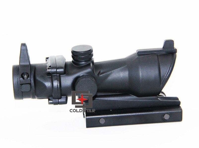 Tactical ACOG 4x32 Rifle Scope Optical Triji Red Dot óptica de Ferro Caça Riflescope Com Montagem Em Trilho