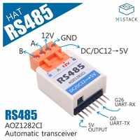 M5StickC ESP32Mini IoT Placa de desarrollo Compatible RS485 HAT AOZ1282CI TTL a RS485 módulo convertidor SP485EEN para Auduino