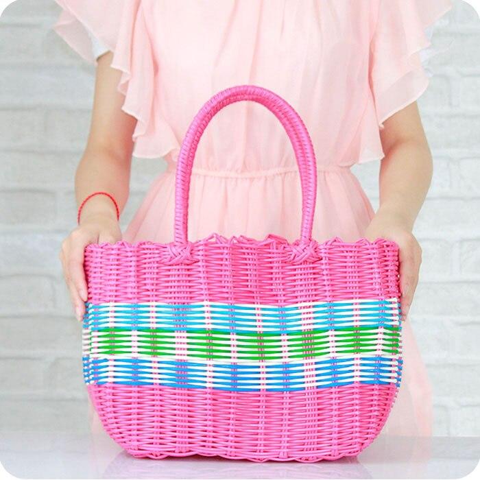 ... Plastic Rattan Basket Hand Woven Basket Pastoral Buy Storage Baskets ...