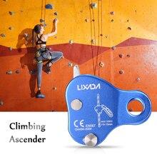 Lixada Dispositivo de escalada de 220LB, dispositivo de seguridad para escalada, aparejo de escalada al aire libre, cuerda de 8 13MM, herramienta para exteriores