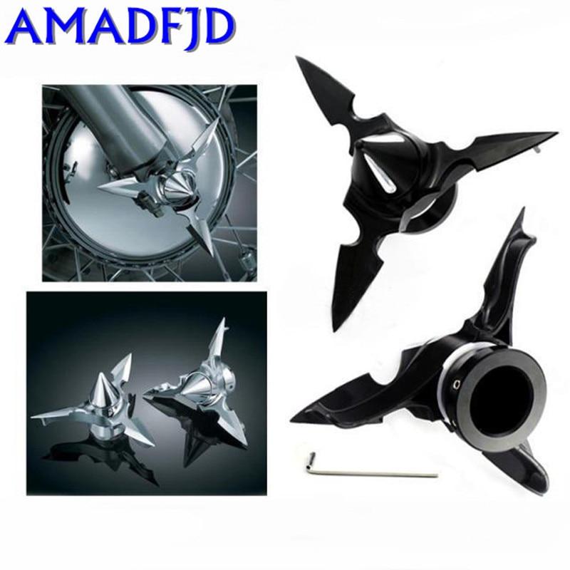 Screws ForHarley-Davidson 02-17 Motorcycle Front Wheel Axle Screws Three-dimensional Screw Hood Plating / Black