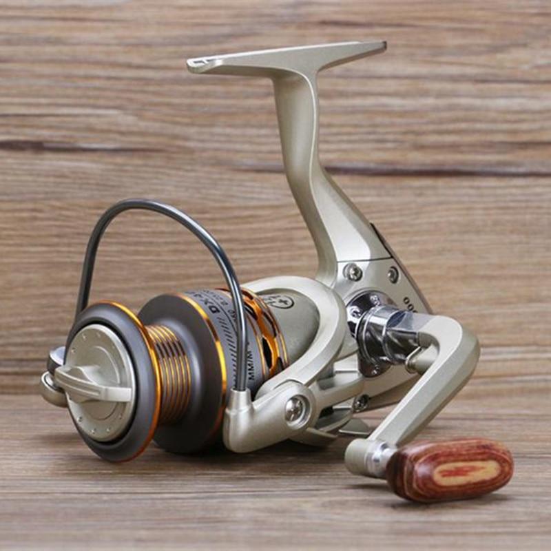 2017 Nuova bobina di Pesca bobina di Legno stretta di mano 12 + 1BB Spinning Reel Fishing Metallo Professionale Sinistra/Mano Destra Mulinello Da Pesca ruote