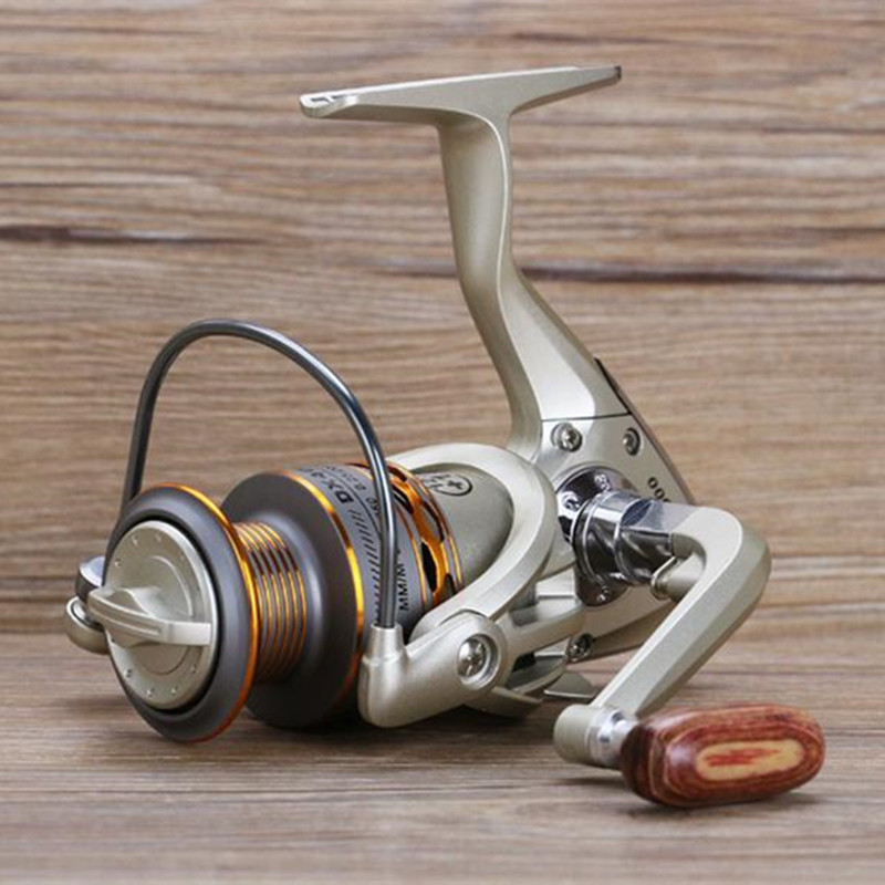 2017 neue Angeln coil Holz handshake 12 + 1BB Spinning Angelrolle Professionelle Metall Left/Right Hand Angelrolle räder