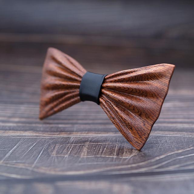 Mens Wooden Bow tie designers fashion gravata noeud papillon bois pajarita madera wood bowtie men necktie goom shirt accessories