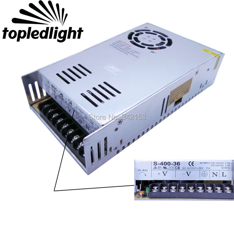 DC36V 11A 400W Universal Regulated Switching Power Supply For Led Strips Home Appliances Portable Lighting Accessories aluminum dc 12v 29a 350w universal switching power supply adapter led driver for cctv cameras led strips home appliances