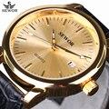 SEWOR Marca de Luxo Moda Casual Relógios Homens de Negócios Relógio Mecânico Automático Data com Pulseira de Couro Relógio montre homme 2016 Novo