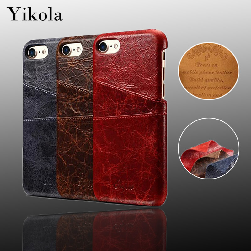 For Iphone 7 Plus Flip Leather Wallet Case For Samsung Galaxy S8 Plus Magnetic Credit Card Phone Holder Stand Cracked Back Cover