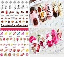 New candy sticker watermark nail stickers coffee cake watermark nail stickers nail jewelry cute cartoon food nail sticker tools