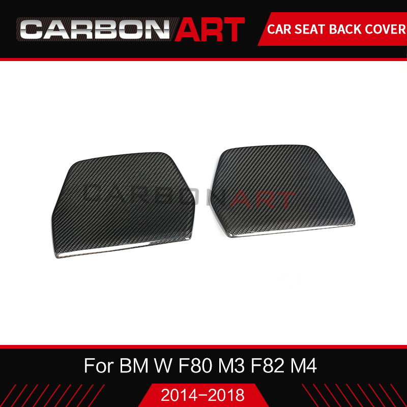 For BMW M3 F80 M4 Carbon seat back cover M series M4 F82 M4 F80 M3 Carbon fiber chair back patch trim F82 M4 car styling