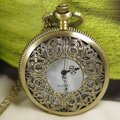 2017 watch brass chain gift necklace free shipping hot sale new men women lady Victorian Golden Rose pattern  Pocket Watch wp115