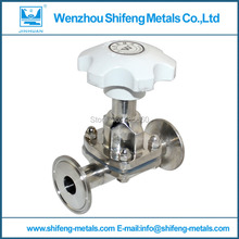 "1 1/2"" Sanitary Fitting Diaphragm Valve Clamp Type Stainless Steel SS SUS 316"