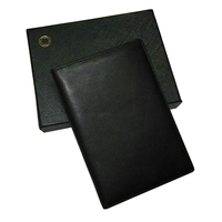 Man Brand M B Genuine Leather Passport Wallet Apparel Sewing Fabric Genuine Leather