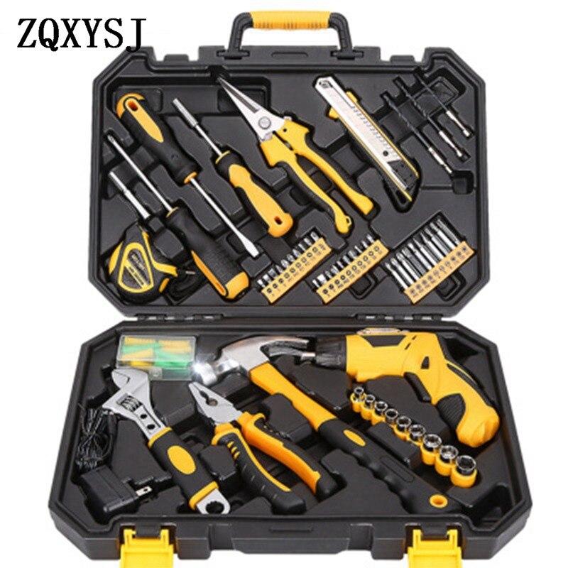 Ensemble d'outils maison matériel outil à main combinaison voiture réparation ensemble boîte à outils multi-fonction réparation combinaison outil à main kit
