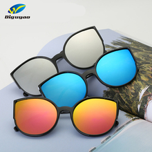 4b9b96ef20 DIGUYAO Brand 2017 New Cat Eye Sunglasses Women Fashion Summer Style Big  Size Frame Mirror Sunglasses