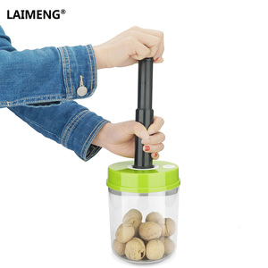 Image 3 - LAIMENG High Quality Plastic Vacuum Sealer Canister Large Capacity 2200ml Vacuum Container For Marinating S170