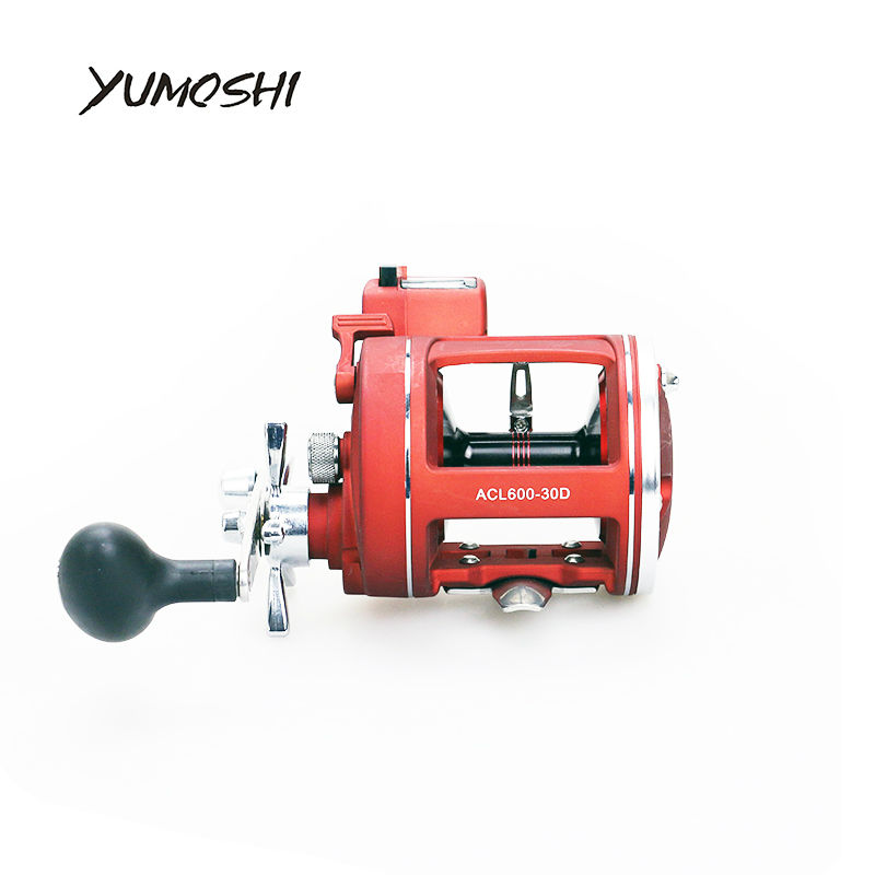 YUMOSHI Fishing Reel Left Right Hand 12BB Ball Bearings with Electric Depth Counting Multiplier Body Cast Drum Reels Pesca 2018